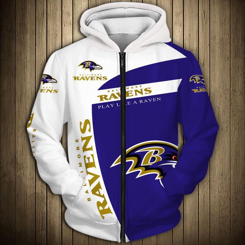 National football league baltimore ravens zip hoodie