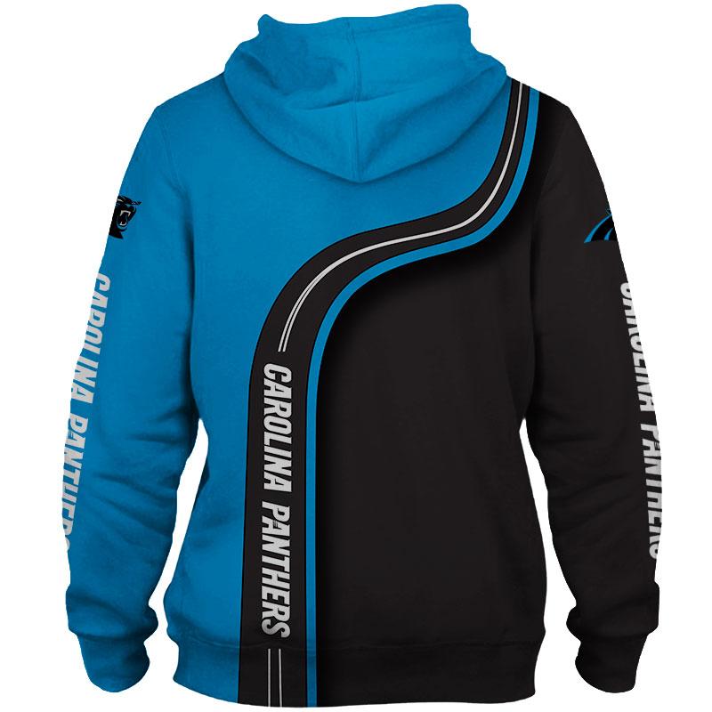 National football league carolina panthers zip hoodie 1