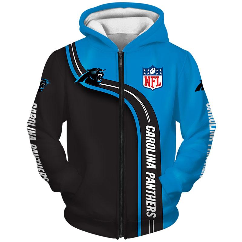 National football league carolina panthers zip hoodie
