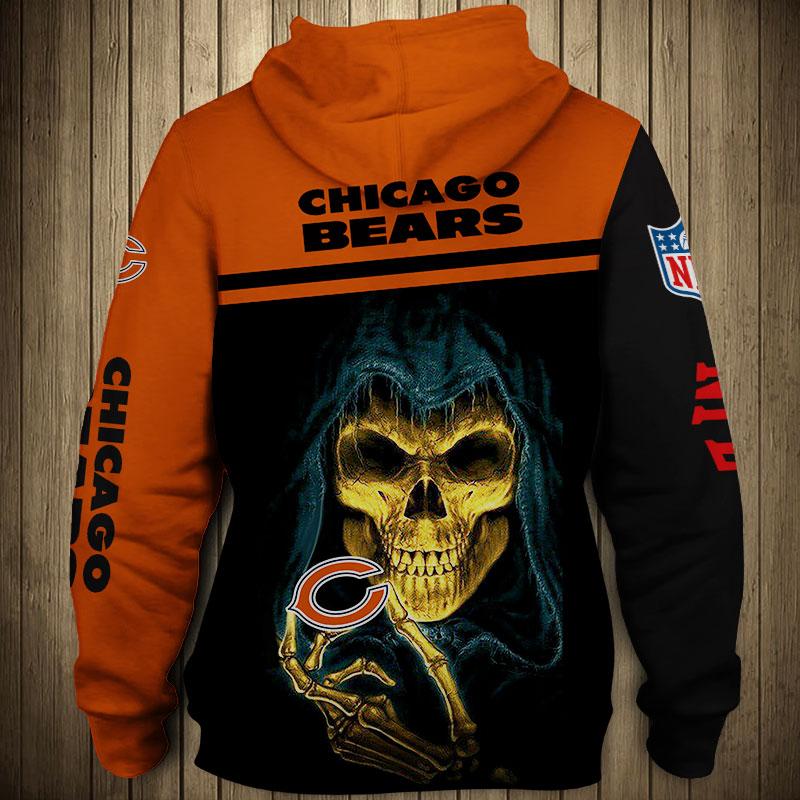 National football league chicago bears team zip hoodie 1