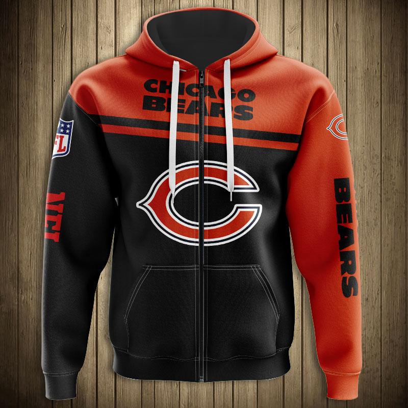 National football league chicago bears team zip hoodie