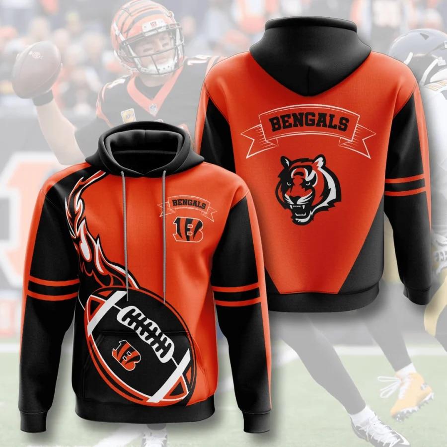 National football league cincinnati bengals hoodie 1