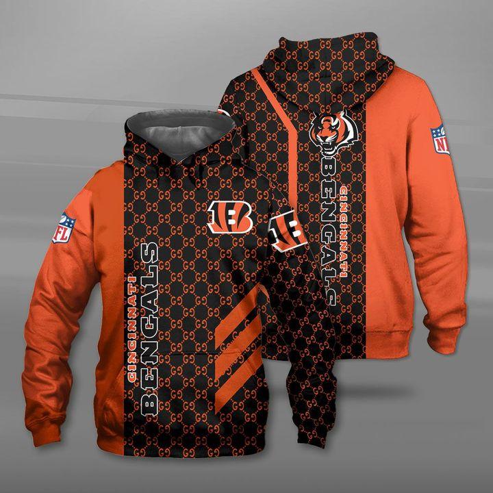 National football league cincinnati bengals logo full printing hoodie