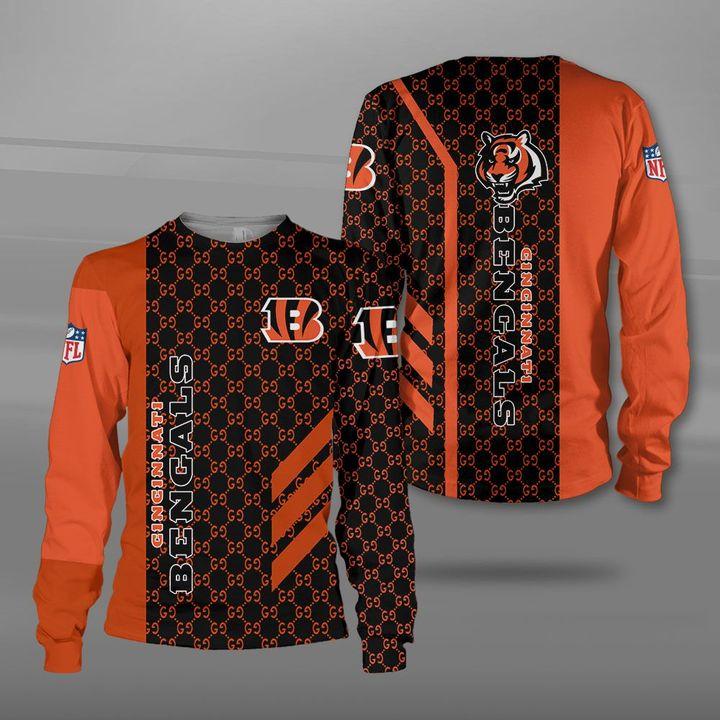 National football league cincinnati bengals logo full printing sweatshirt