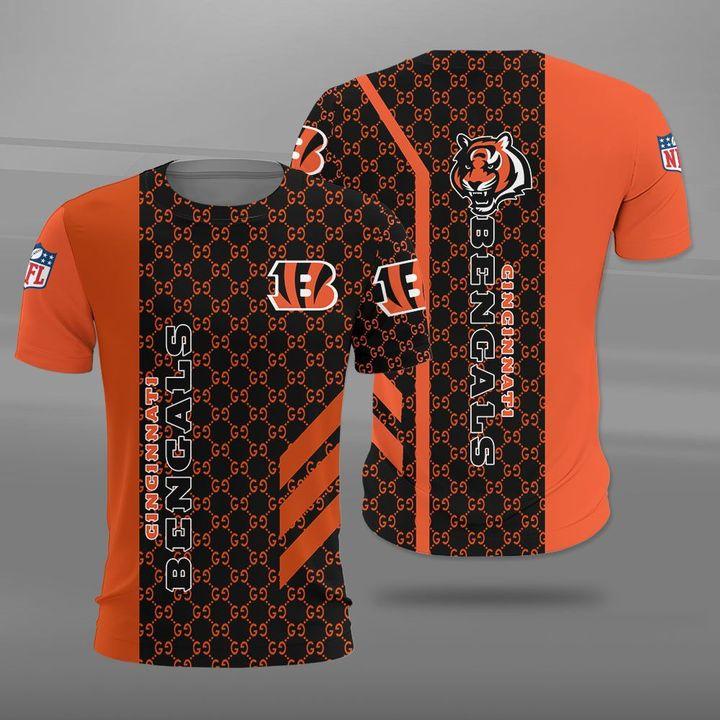 National football league cincinnati bengals logo full printing tshirt