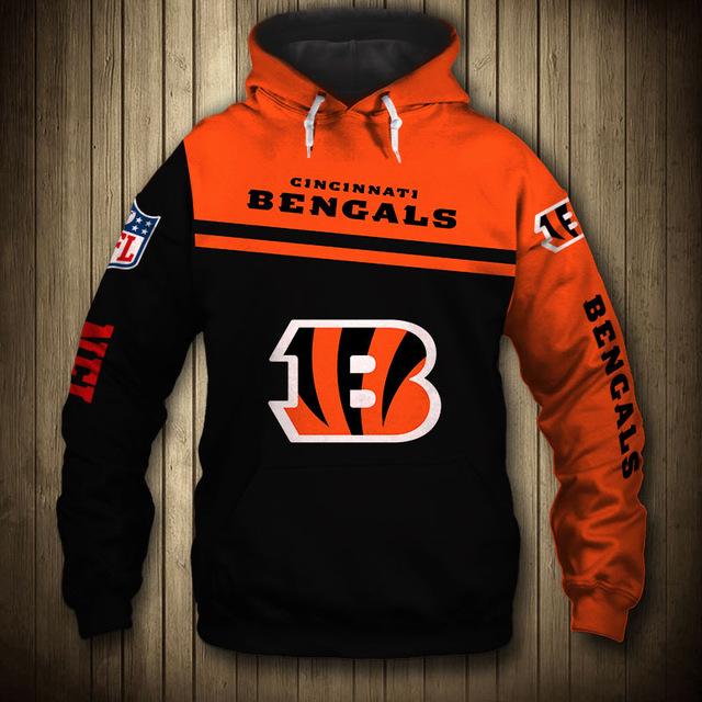National football league cincinnati bengals team hoodie