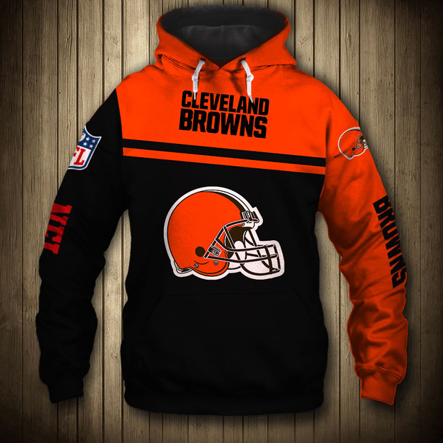 National football league cleveland browns team hoodie 1