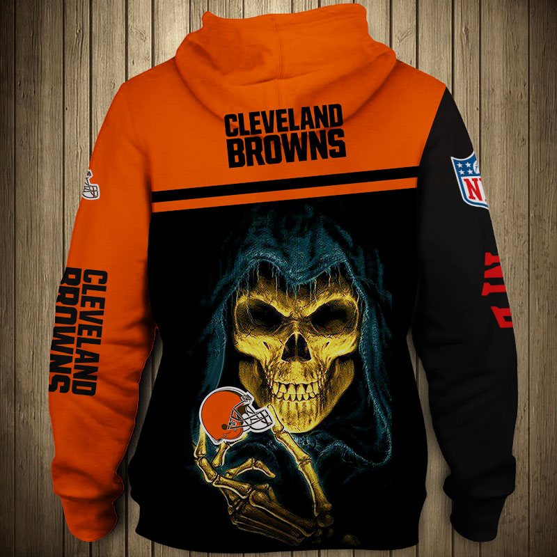 National football league cleveland browns team hoodie 3