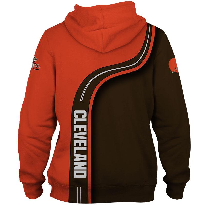 National football league cleveland browns zip hoodie 1