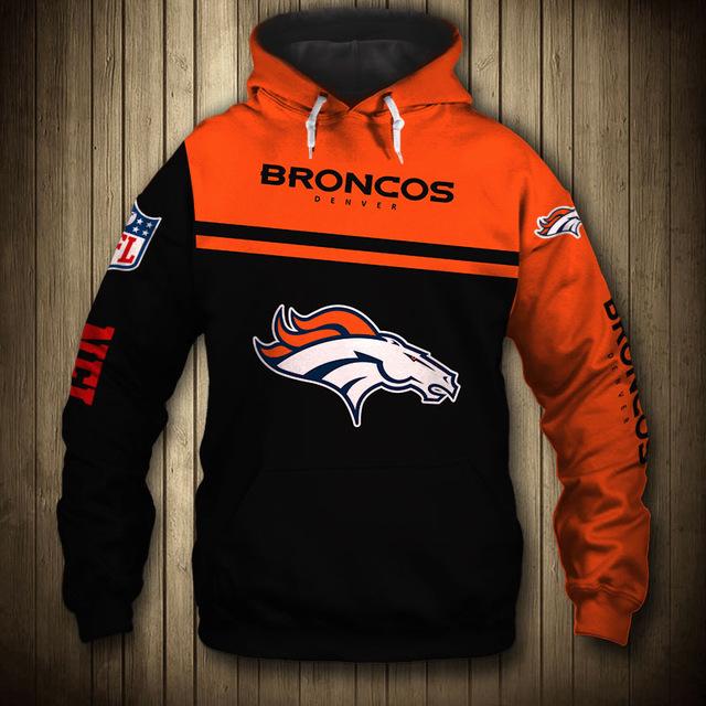 National football league denver broncos team hoodie
