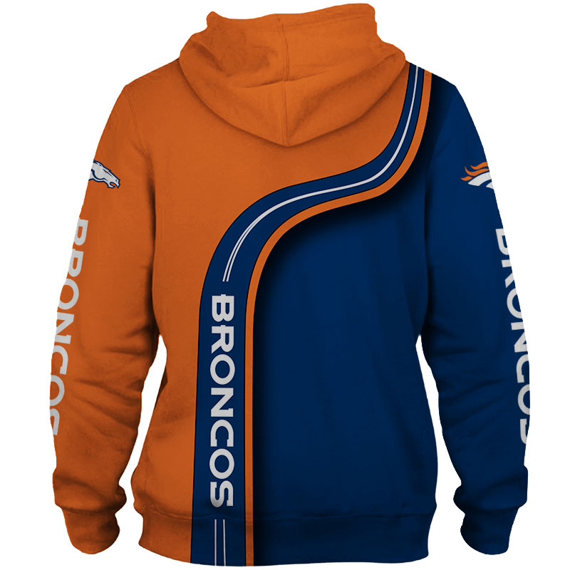 National football league denver broncos zip hoodie 1