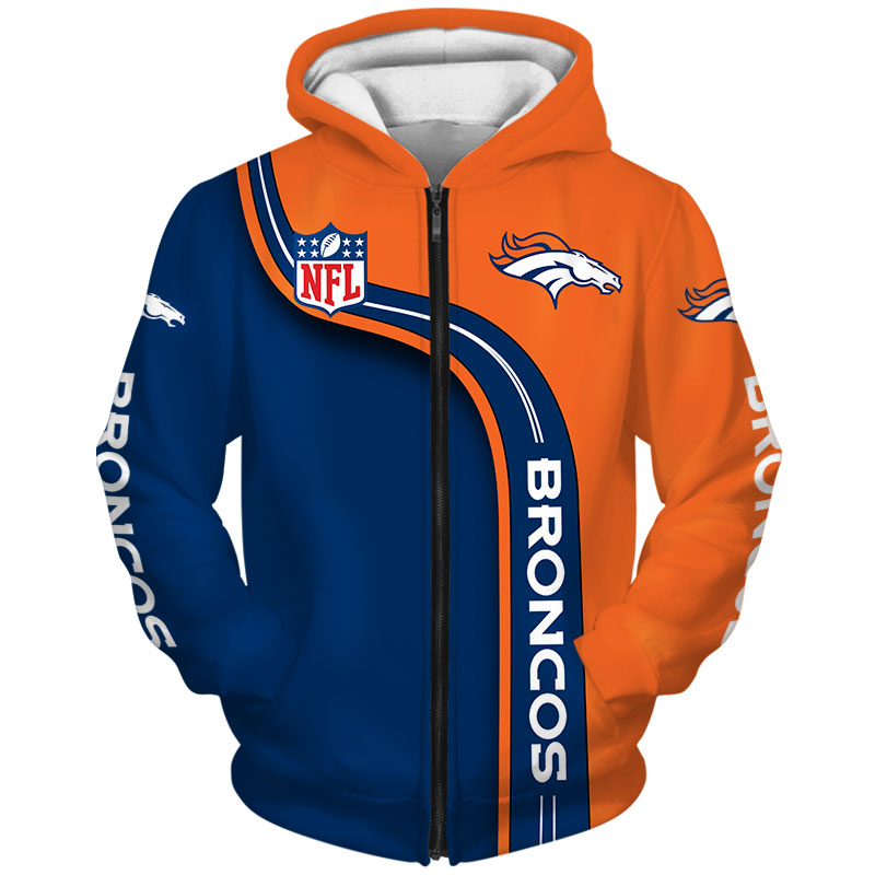 National football league denver broncos zip hoodie