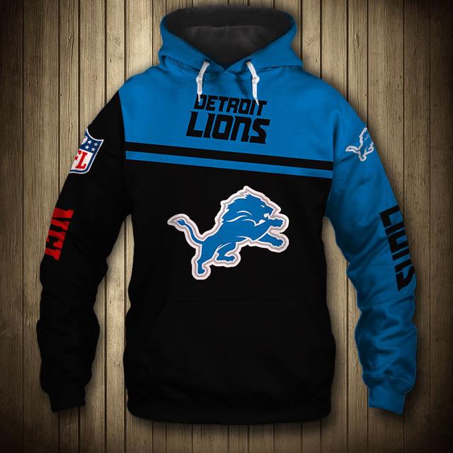 National football league detroit lions team hoodie