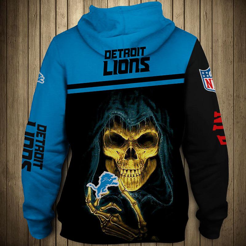 National football league detroit lions team zip hoodie 1