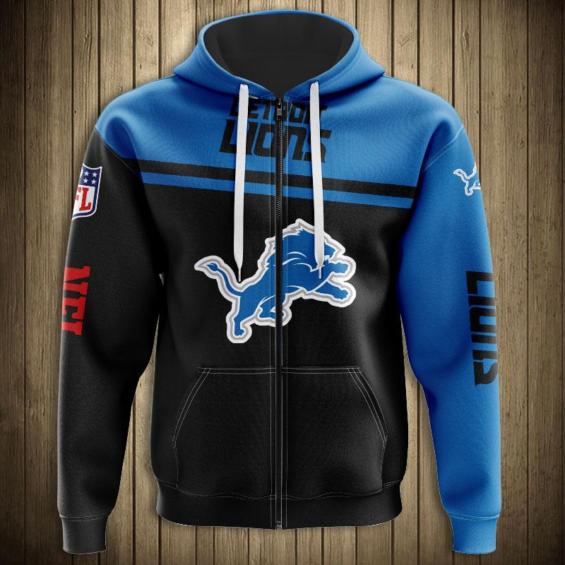National football league detroit lions team zip hoodie