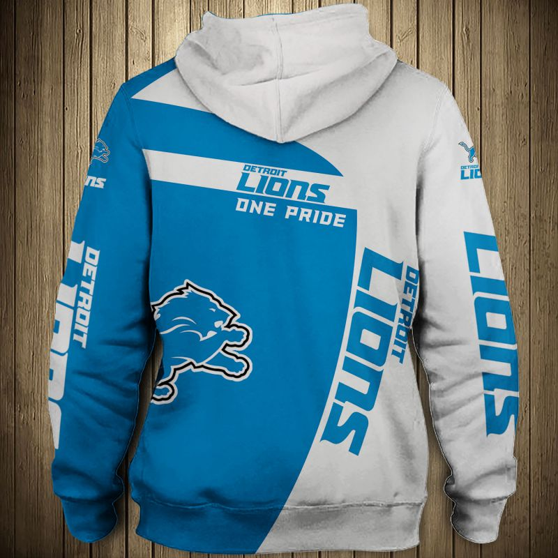 National football league detroit lions zip hoodie 1