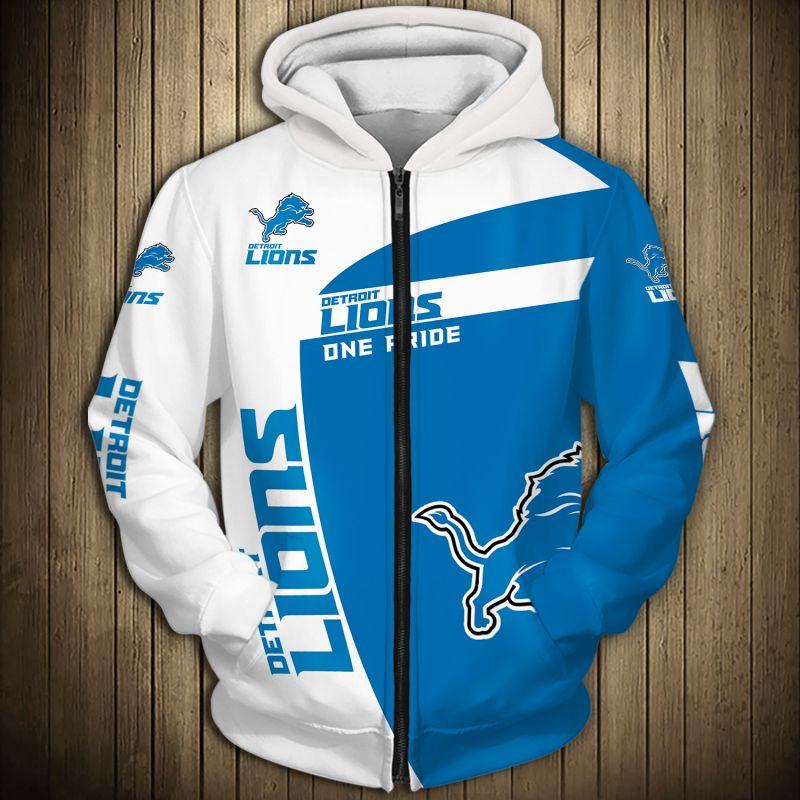 National football league detroit lions zip hoodie