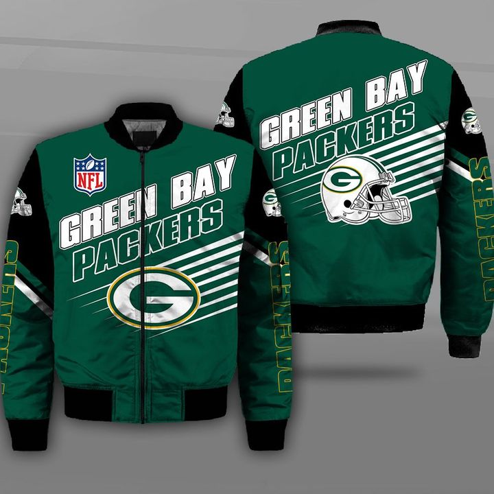 National football league green bay packers full printing bomber