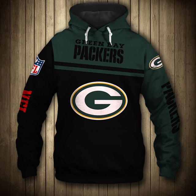 National football league green bay packers team hoodie