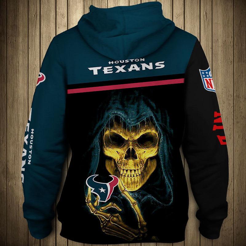 National football league houston texans team zip hoodie 1