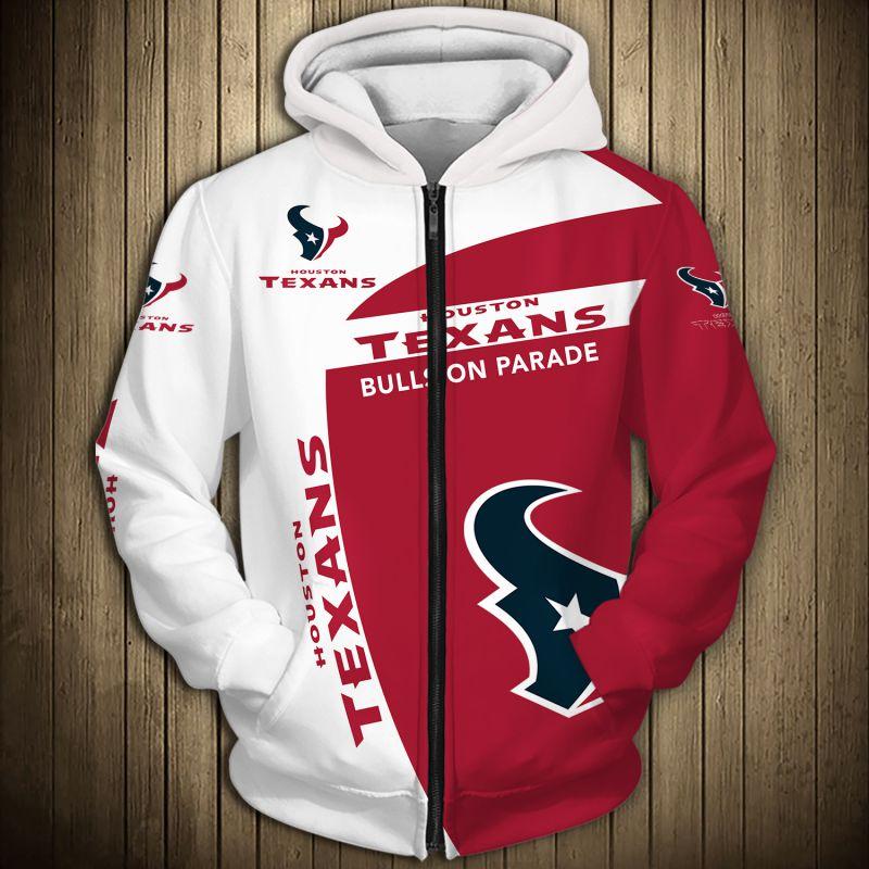 National football league houston texans zip hoodie