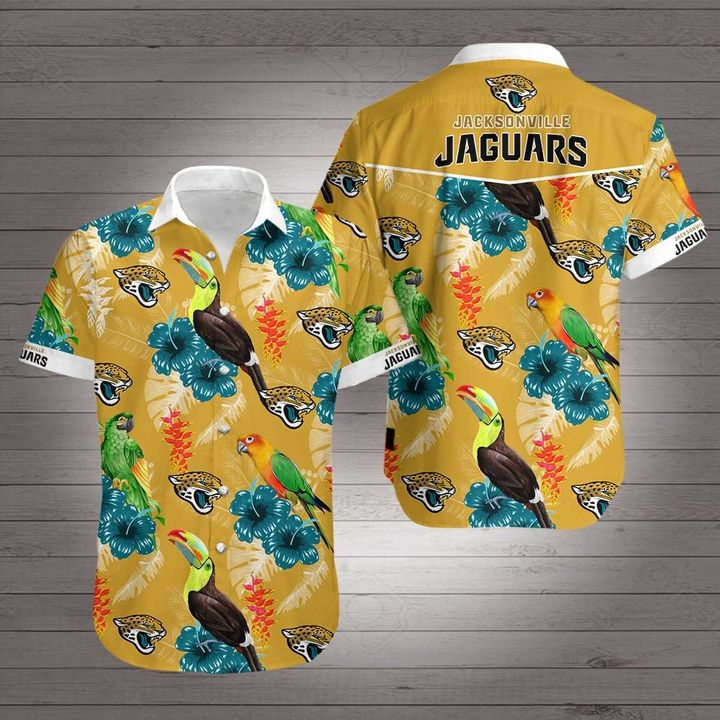 National football league jacksonville jaguars hawaiian shirt 1