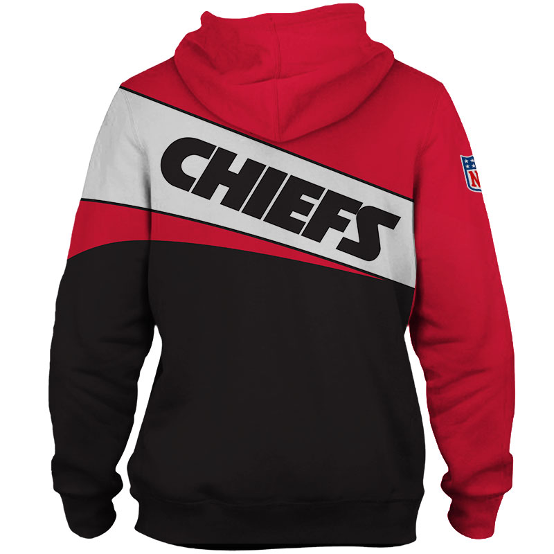 National football league kansas city chiefs team zip hoodie 1
