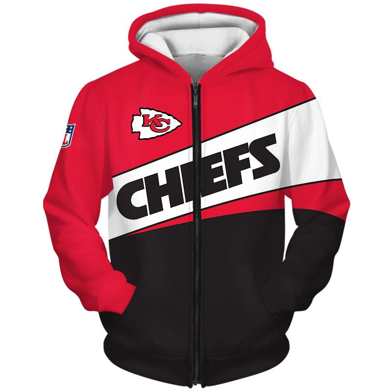 National football league kansas city chiefs team zip hoodie