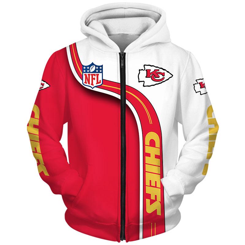 National football league kansas city chiefs zip hoodie