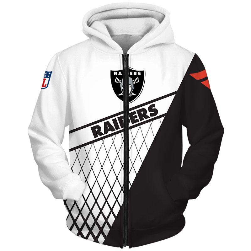 National football league las vegas raiders zip hoodie