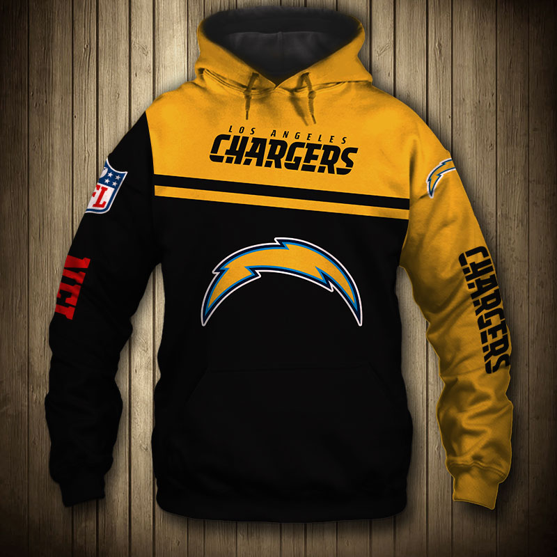 National football league los angeles chargers skull hoodie