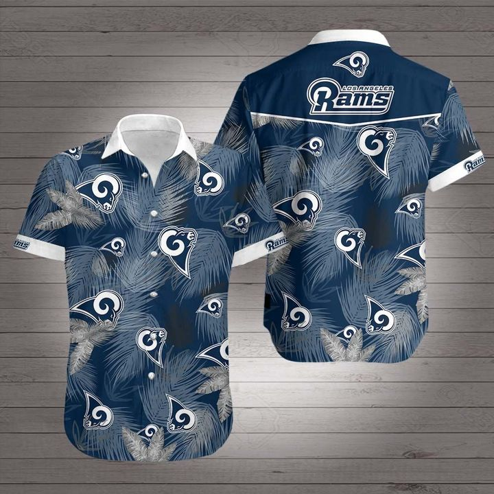 National football league los angeles rams hawaiian shirt 1