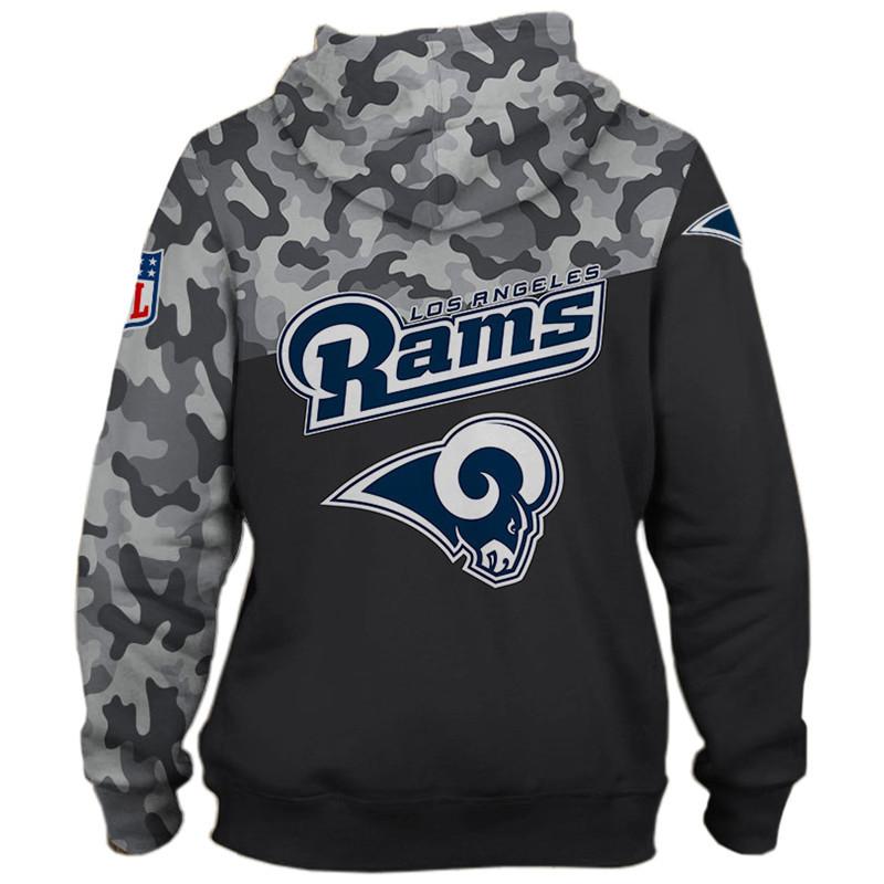 National football league los angeles rams military zip hoodie 1