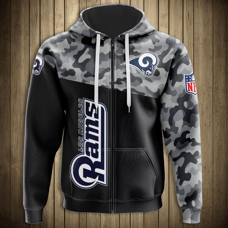 National football league los angeles rams military zip hoodie