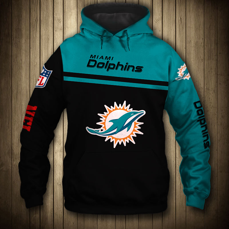 National football league miami dolphins team hoodie