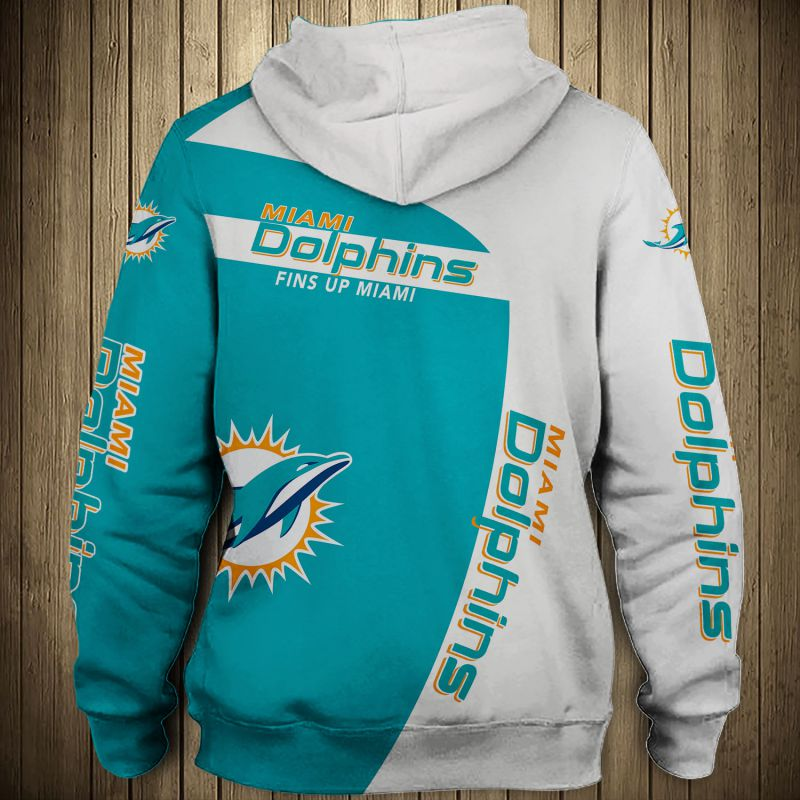 National football league miami dolphins zip hoodie 1