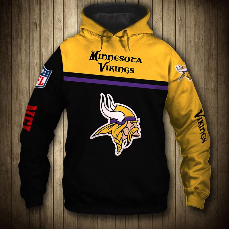 National football league minnesota vikings skull hoodie