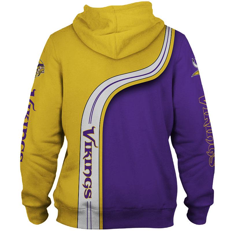 National football league minnesota vikings zip hoodie 1