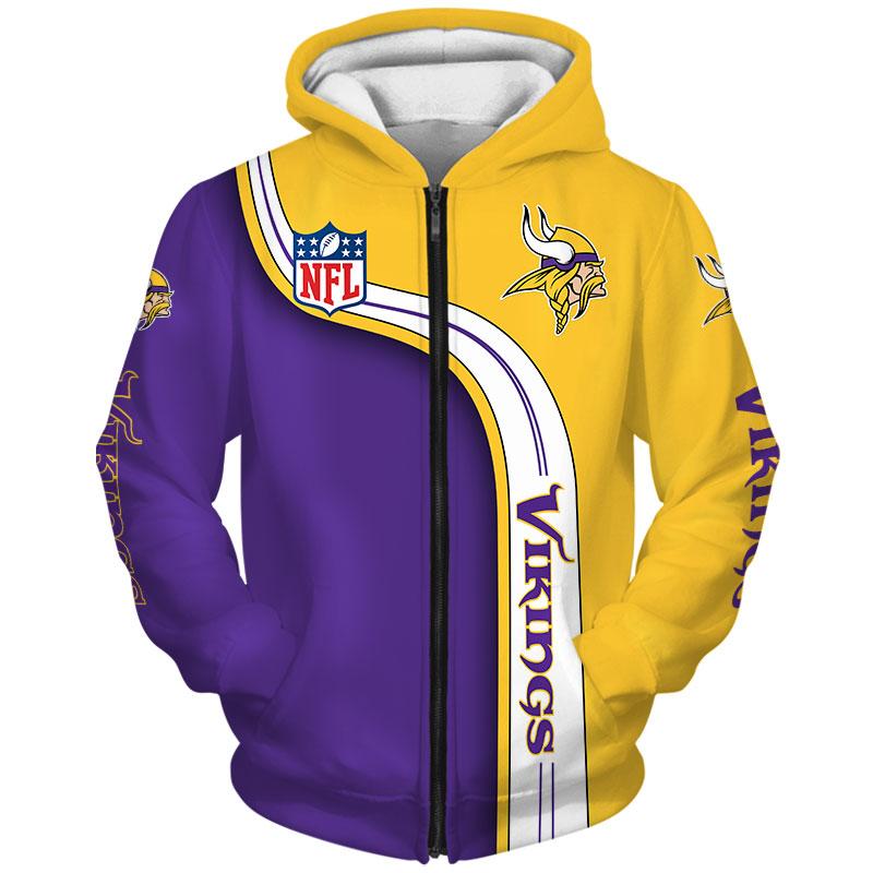 National football league minnesota vikings zip hoodie