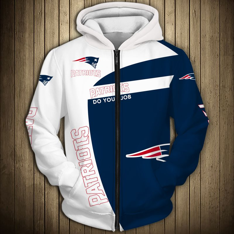 National football league new england patriots zip hoodie