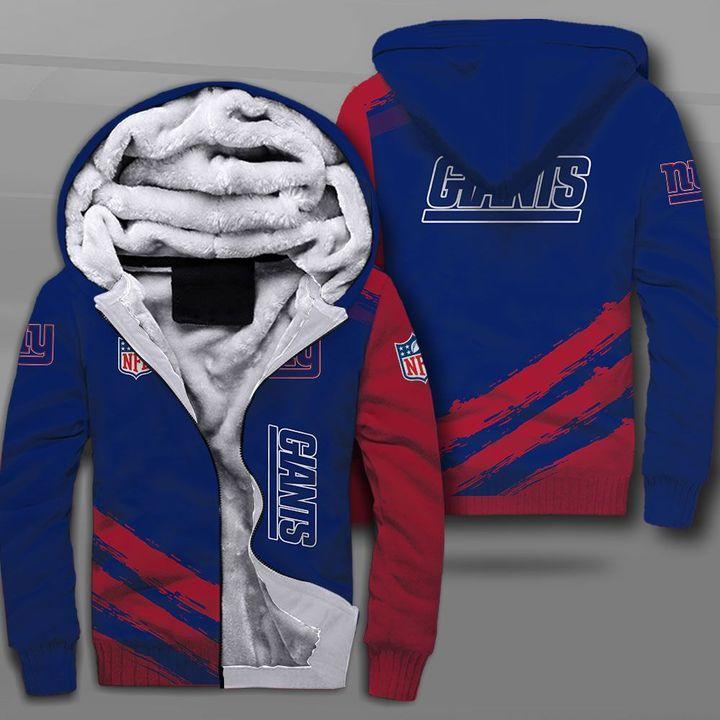 National football league new york giants full printing fleece hoodie