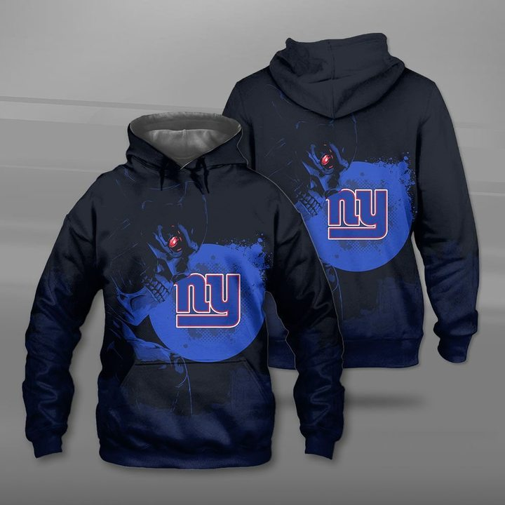 National football league new york giants terminator full printing hoodie