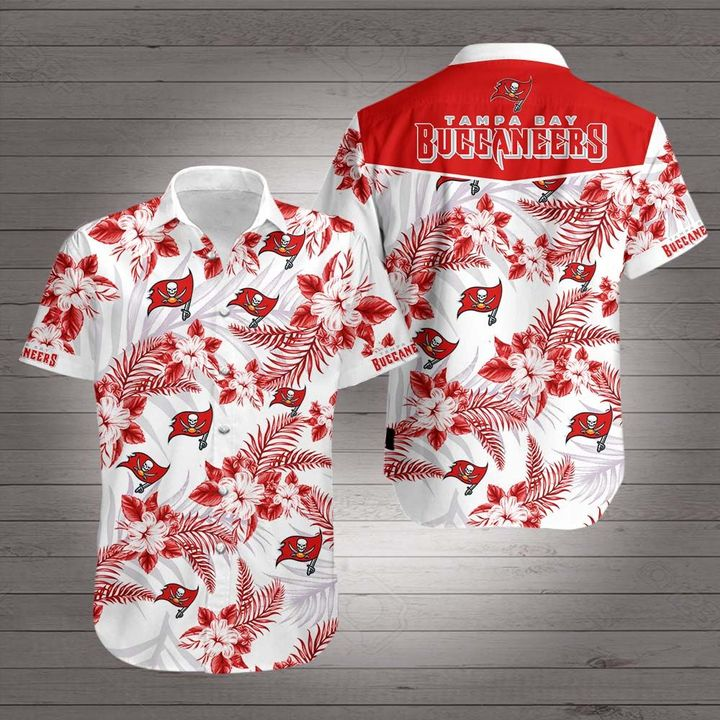 National football league tampa bay buccaneers hawaiian shirt 2