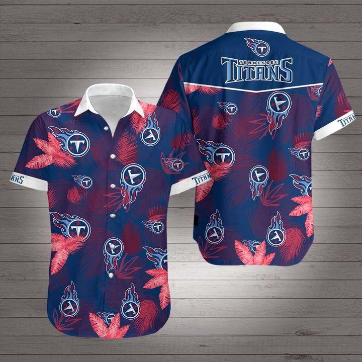 National football league tennessee titans hawaiian shirt 1