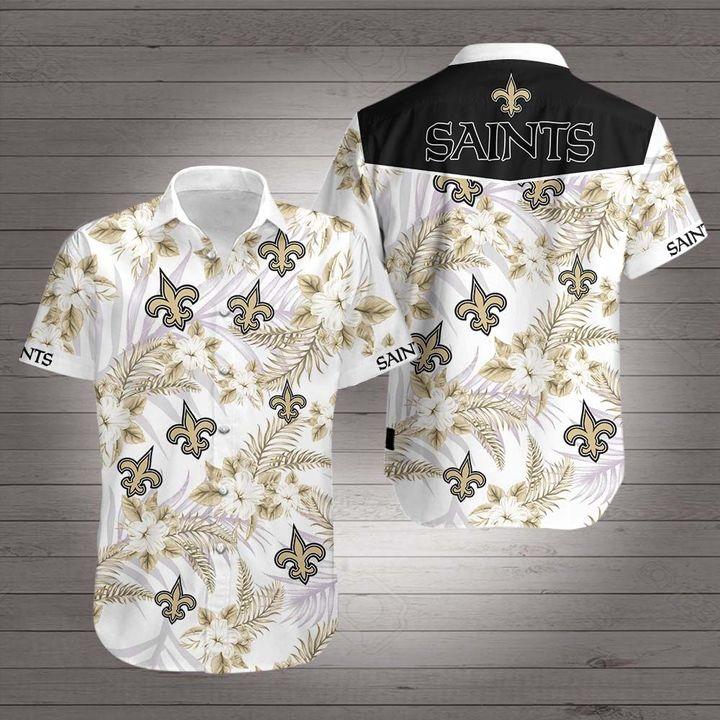 New orleans saints team football hawaiian shirt 1