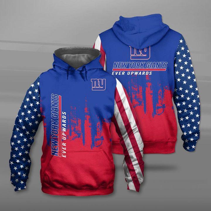 New york giants ever upwards american flag full printing hoodie