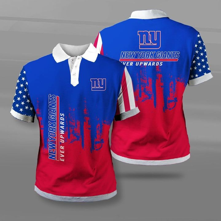 New york giants ever upwards american flag full printing polo