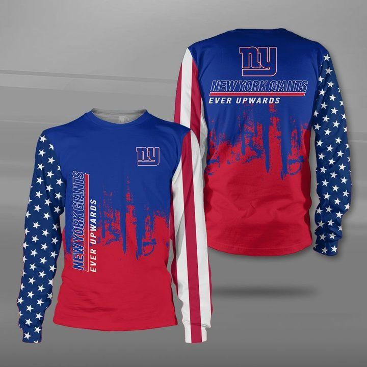 New york giants ever upwards american flag full printing sweatshirt