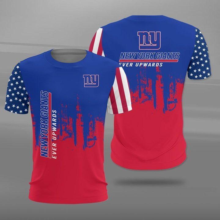 New york giants ever upwards american flag full printing tshirt