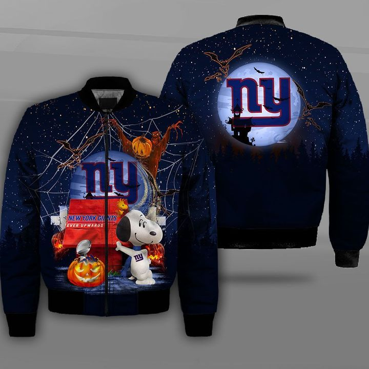 New york giants ever upwards snoopy full printing bomber